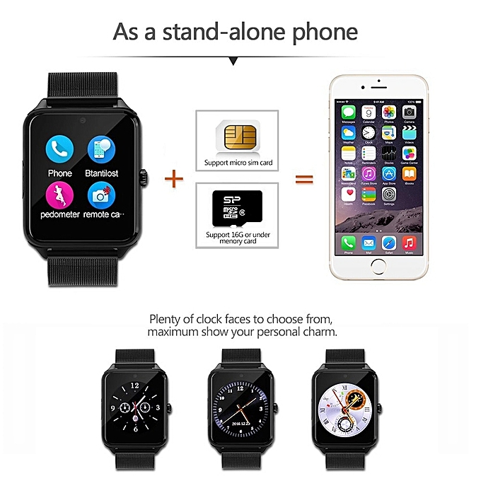 Metal Strap Bluetooth Smartwatch For Android & IOS