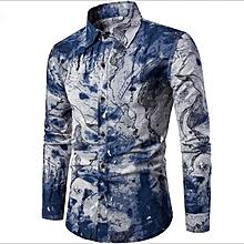 f264832f1e624 GeneAfrica Casual Long Sleeve Shirt Men  039 s Top Men Clothes
