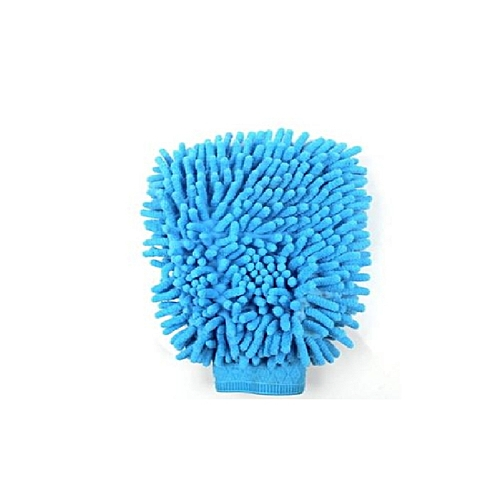 Mitt Microfiber Car Wash Glove - Blue