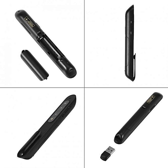 2.4GHz Wireless USB PowerPoint PPt Remote Control Flip Pen Presentation Laser Pointer .