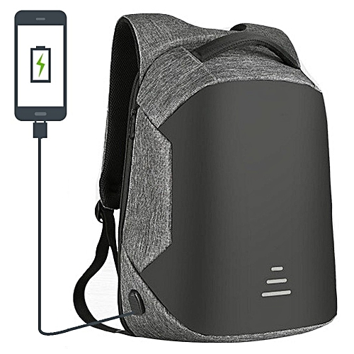 2018 Amazing New Smart Backpack, Anti Theft Bag Security Travel Backpack & Laptop Bag Water Repellant With USB Charging Port - 2018 Design- Grey