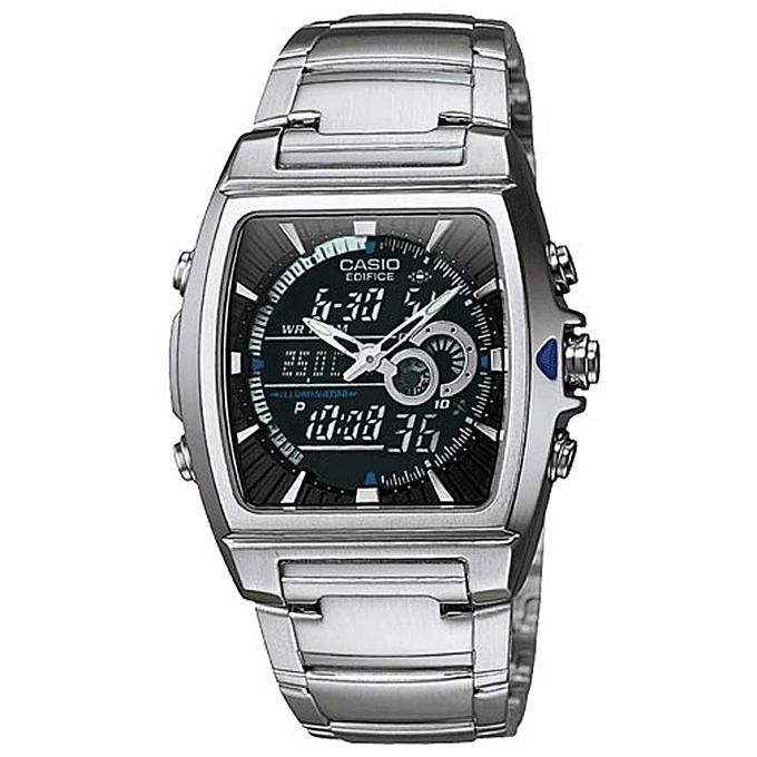 c15028b8d380 Men s Edifice Analog Digital Thermometer Chronograph Bracelet Watch -  EFA120D-1AV