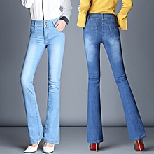 8c39ebfdc509b Slim Boot Cut Jeans For Women High Waisted Flare Jeans Long