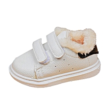 a3915f55869d91 Infant Toddler Kid Boys Girls Cute Warm White Baby Soft Sole Sneaker Shoes  BK 25-