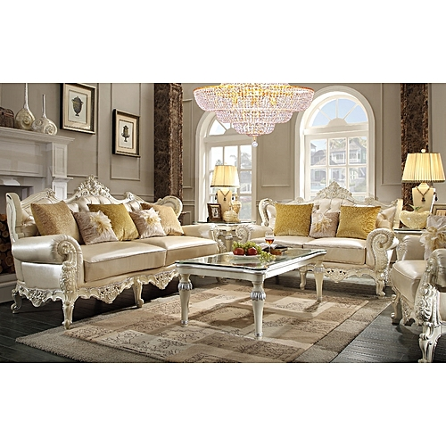 Royal Grace 6 Seater Leather Set With To Match Coffee Table