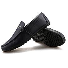 15652e6c864475 2019 New Flat Fashion Men  039 s Casual Shoes Shoes Leather Loafers Shoes-
