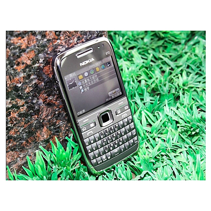Refurbished Phone Nokia E72 Cell Phones 3G 5MP Camera Wifi Bluetooth FM GPS  Mobile Phone (Silver)