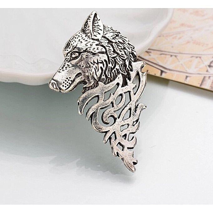 Luxury Sliver Wolf Head Brooch Wedding Brooches For Men Lapel Flower Daisy Handmade Boutonniere Sticks Pin