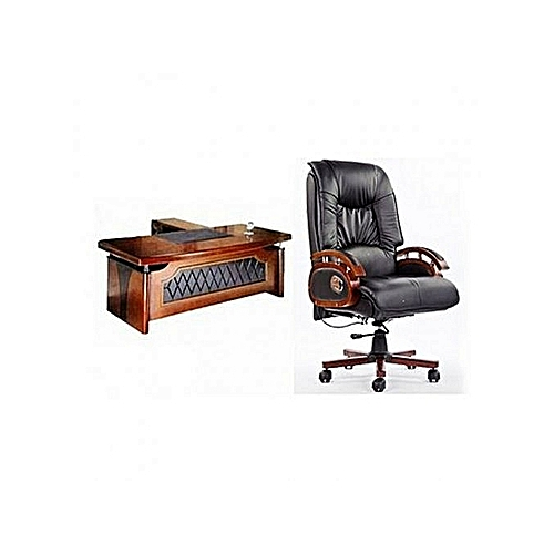 Executive Chair + Office Table With Extension (Lagos Delivery Only)