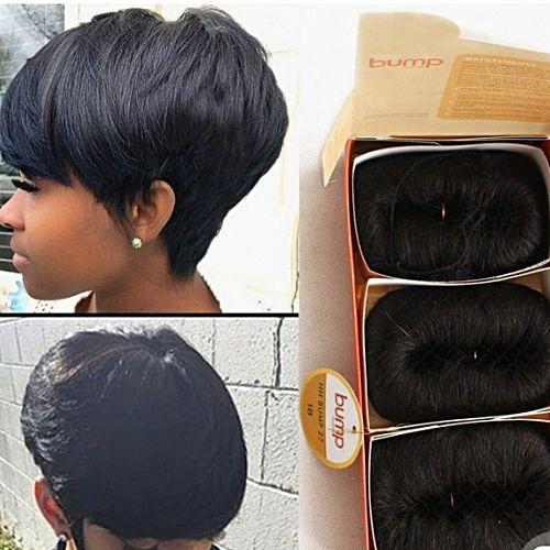 Buy Pixie Cut Human Hair Stocking Cap Vinyl Cap