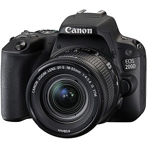 EOS 200D DSLR With 18-55mm F/4-5.6 IS STM Lens - Black