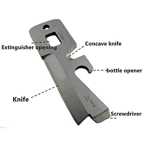 Survival Multi-functional Tool Defense Spoon Fork Bottle Opener Carabiner