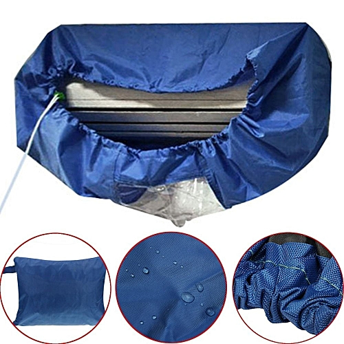 Dark Blue Air Conditioner Cleaning Dust Washing Waterproof Cover Clean Protector