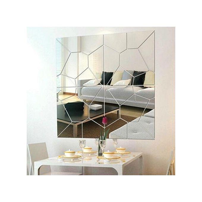 Bluelans Diy 3d Modern Mirror Decals Art Mural Removable Wall Sticker Home Decor Buy Online