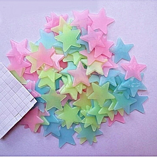 100PCS Stars Glow In The Dark Stickers Wall Decor For Kids/Baby, Home Bedrooms