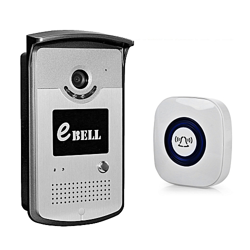 ATZ - DBV03P - 433MHz Network WiFi Doorbell 720P 1.0MP Night Vision With Indoor Chime - Silver