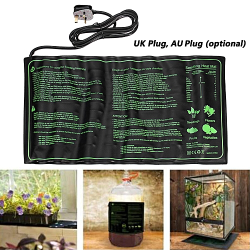 Seedling Heat Mat Hydroponic Seed Reptile Plant Heating Pad With Power-Of UK UK Plug