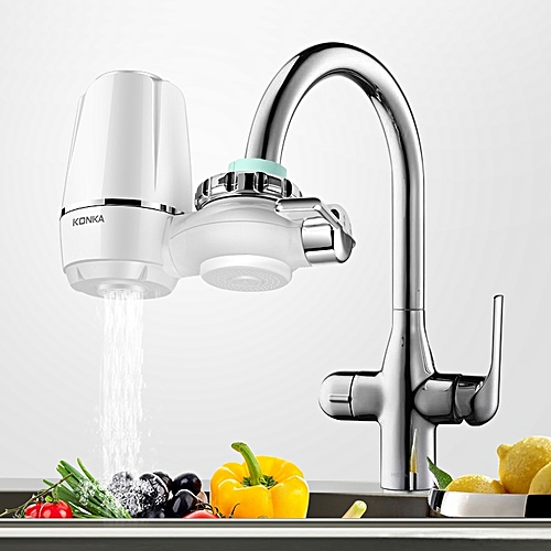 KONKA Faucet Water Filter & Elements Washable Filtration Kitchen Basin Tap Purifier Fit Most Faucets