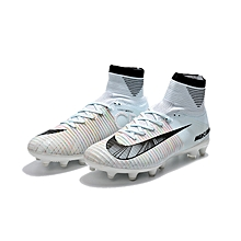 Spikes Training Football Boots Ankle Soccer Shoes Leather High Top Soccer  Cleats Football Sneaker 4f1f82676b4
