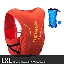10L Nylon Sports Bag Outdoor Hiking Running Hydration Backpack Breathable Reflective Vest Pack Water Bottle Bladder(Orange LXL 2) for sale  Nigeria