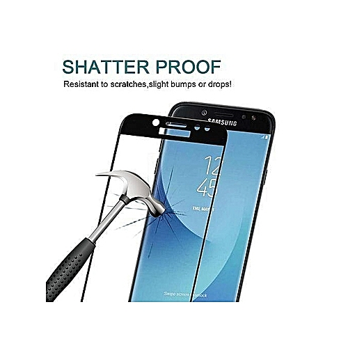 Samsung Galaxy J7 Pro 0.3mm 9H Surface Hardness 3D Curved Silk-screen Full Screen Tempered Glass Screen Protector(Black)