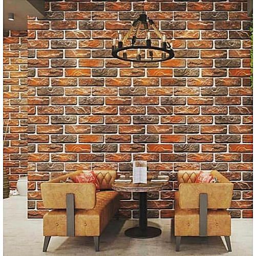 Bricks Wallpaper 3D Effect - 5.3 SQM
