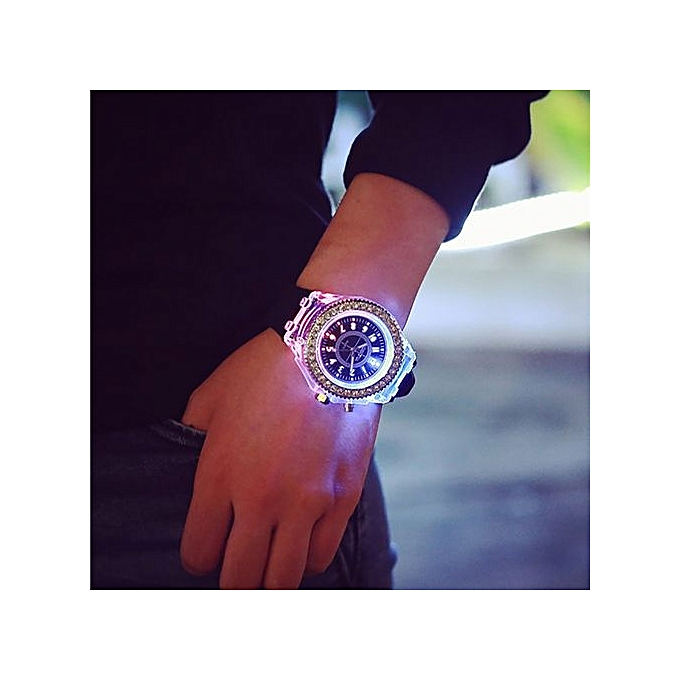Geneva LED Backlight Sport Waterproof Quartz Wrist Watch