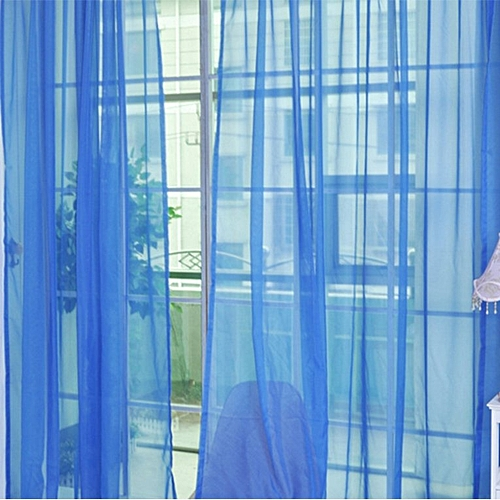 Modern Design Solid Color Curtain Panel Curtains For Home Kitchen Living Room Royal Blue