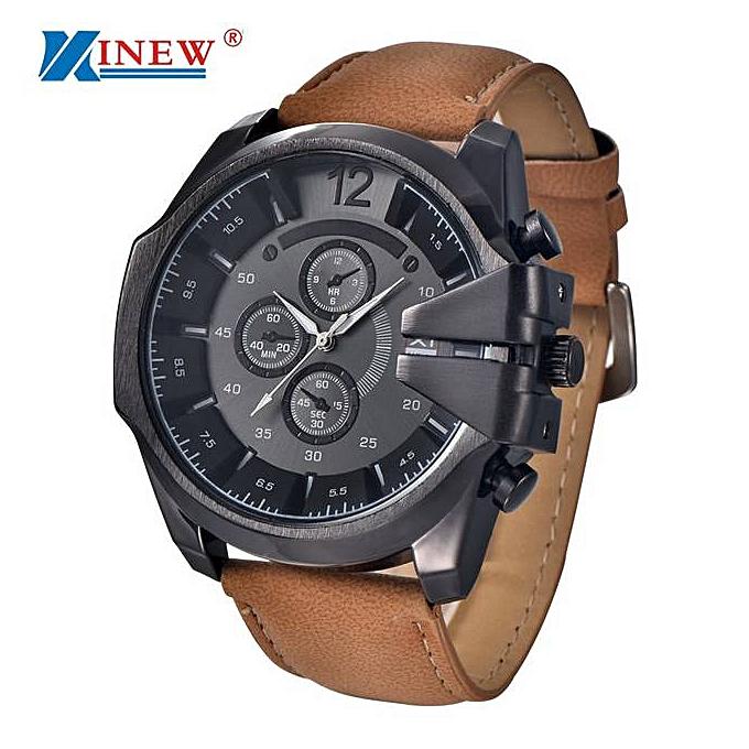 Sports Mens Watch Steel Case Quartz Quartz Watches Men-Blue
