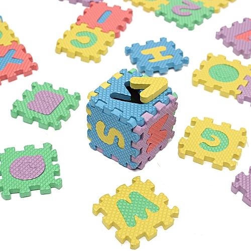 36Pcs Alphabet Numerals Baby Kids Play Educational Toy Soft Foam Mats Xmas Gift