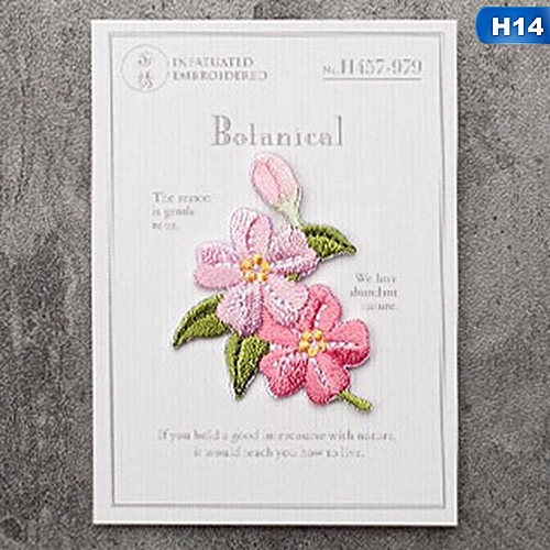 Eleganya Women Clothes DIY Decoration Fine Flowers Embroidery Fabric Stickers