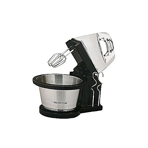 Hand Mixer With Rotating Bowl