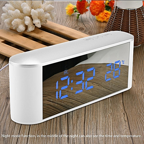 Digital LCD Indoor Home ThermometerHygrometer Humidity Display Meter With Clock