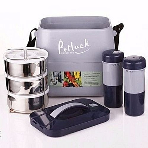 Insulated Food Flask Thermal Lunch Box With Stainless Liner
