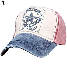 338ff78d187 Pentagram Letter Print Snapback Sports Hat (Blue Red)