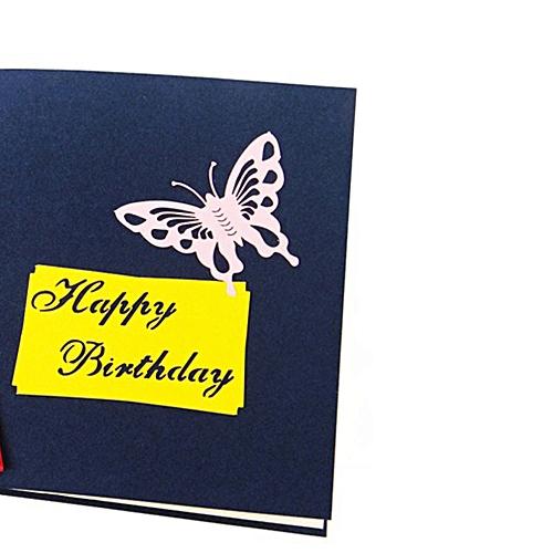 Lover Happy Birthday Anniversary Greeting 3D Card Postcard Blue Seal