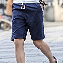 Mens Casual Pants Baggy Shorts Pockets Cargo Short Dark Blue d2be197a05