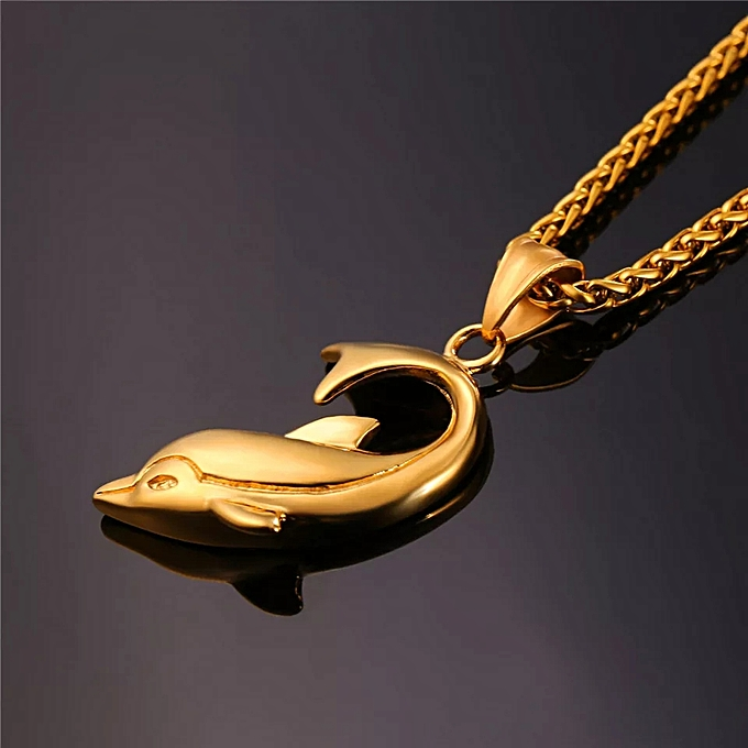 Dolphin Pendant unisex Necklace Jewelry