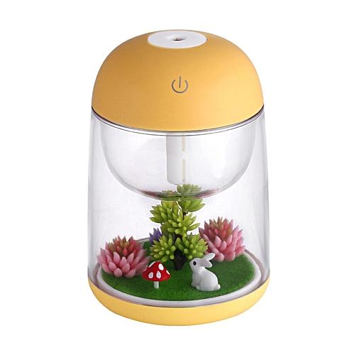 Usb Micro Landscape Mini Colorful Night Light Purification HumidifierYellow
