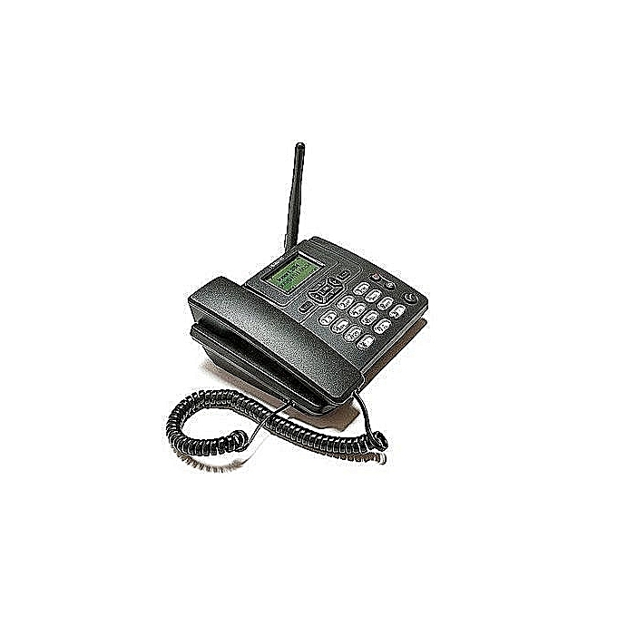 GSM SIM Card Land-Line Table Phone With FM  3125i Black