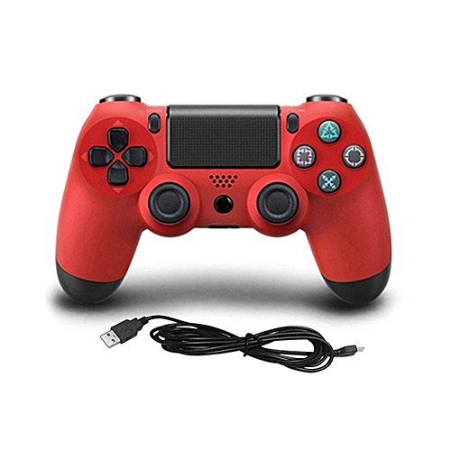 USB Wired Game Controller Gamepad For Sony PS4 Color:red
