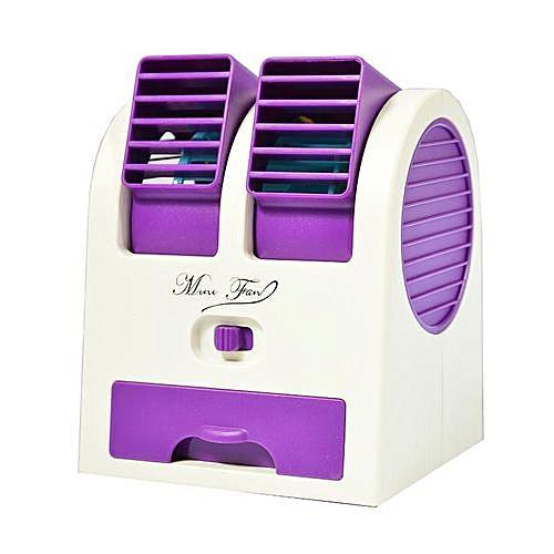 Portable Mini Air Conditioner Flexible Dual-Port Bladeless USB Fan
