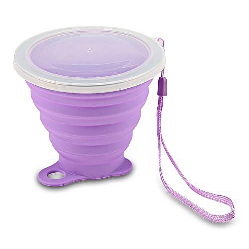 Folding Water Cup Heat Resistance - Heliotrope Purple