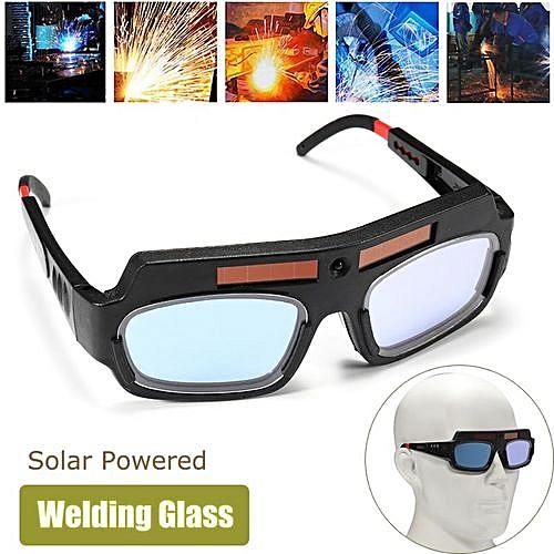 Solar Powered Auto Darkening Welding Mask Helmet Eyes Goggle Welder Glasses Arc Black