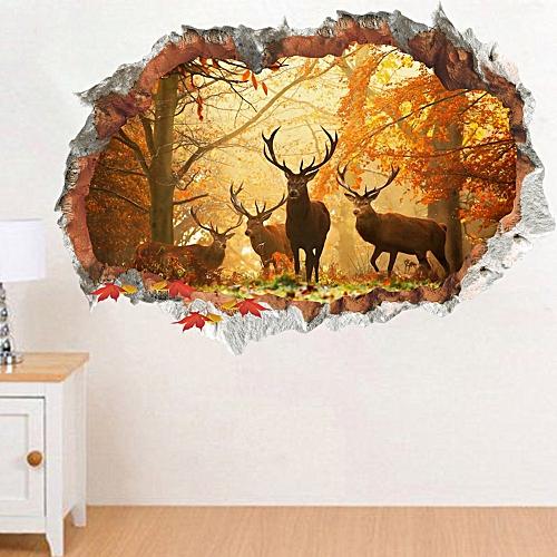 Bioaldla Store Christmas 3D Removable Wall Sticker Adornment Wall Glass Window Decoration
