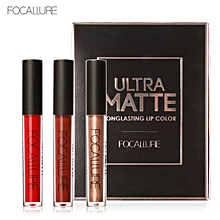 FOCALURE 3Pcs Long-lasting Lip Colourful Lipstick FA24-KIT3