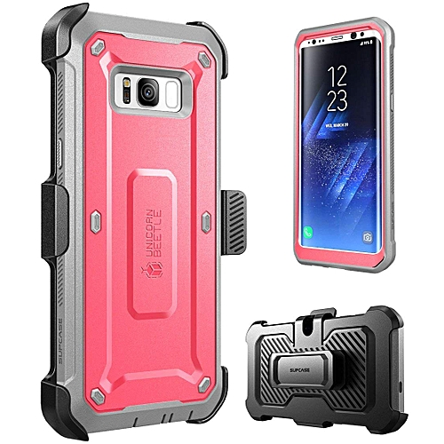 sports shoes 948c8 2846a Galaxy S8+ Plus Case Full-body Rugged Case With Rotatable Belt Clip And  Screen Protector Unicorn Beetle PRO Series(Pink)