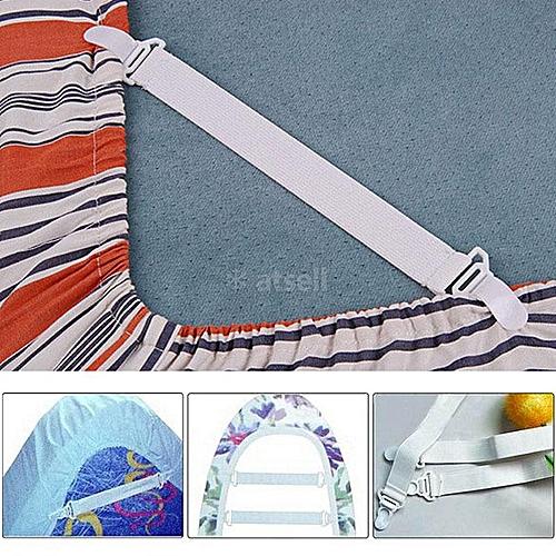 4 X Bed Sheet Mattress Cover Blankets Grippers Clip Set