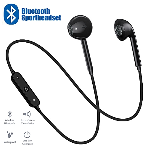 S6 Wireless Sports Headphones Bluetooth 4.1 Headsets Sport Stereo Cancelling Earphone For IPhone Sumsung Android