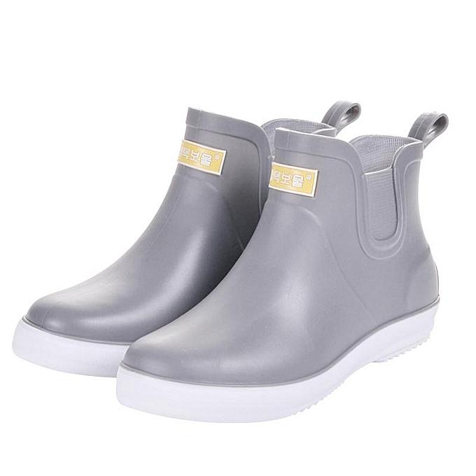 7fb5d7f69 Summer Mens Low Top Shoes Rain Boots Waterproof Flats Slip On Rubber Bootie  New-EU